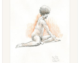 Naked guy pencil drawing — img 6