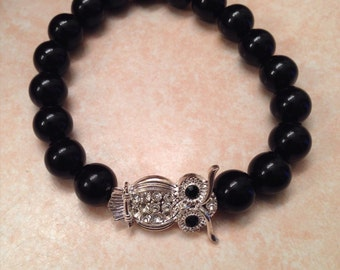 Black Bracelet with Choice of Pendant