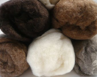 Heidifeathers Carded British Wool Batts - Soft Felting and Spinning Wool / Core Wool / Cloud