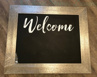 Welcome Magnetic Chalkboard