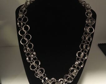 Double chain and link necklace