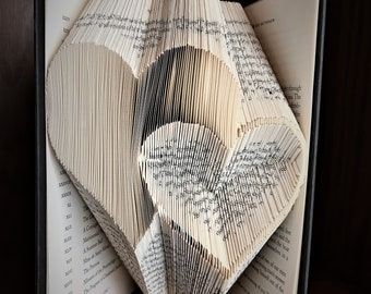 Two Hearts Book Folding