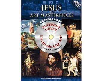DVD/Book 120 Great Paintings of the Life of Jesus DVD and Book - Bent Cover (Second Quality)