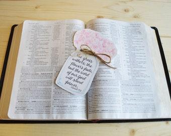 Religious Bookmark- Bible Bookmark- Bible Verse Bookmark- Watercolor Bookmark- Mason Jar Bookmark- Hydrangea Bookmark- Isaiah Bookmark