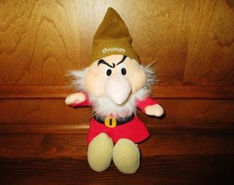 Disney Sega Grumpy Plush Toy from Snow White and 7 Dwarfs