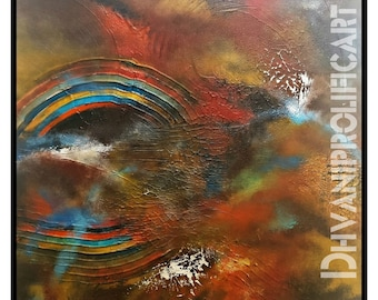 Convergence- Original Abstract  Painting
