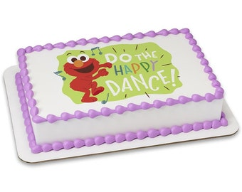 Sesame Street Elmo Happy Dance Edible Cake Topper