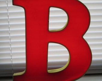 Vintage Store Sign Large Red Letter Translucent Marquee Reclaimed Decoration Urban Alphabet Plastic Epoxy B