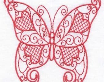 Love Butterflies - INSTANT DOWNLOAD - Machine Embroidery - 4x4 hoop
