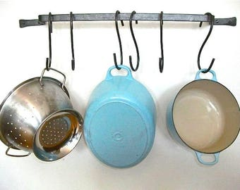 Wall Mounted Pot rack, made to measure, hanging pan