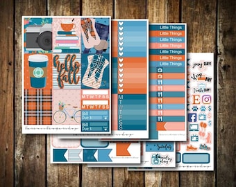 Hello Fall // Weekly Planner Sticker Kit (170+ Stickers)