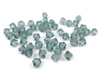 50 x INDIAN SAPPHIRE Swarovski® 4mm bicone beads