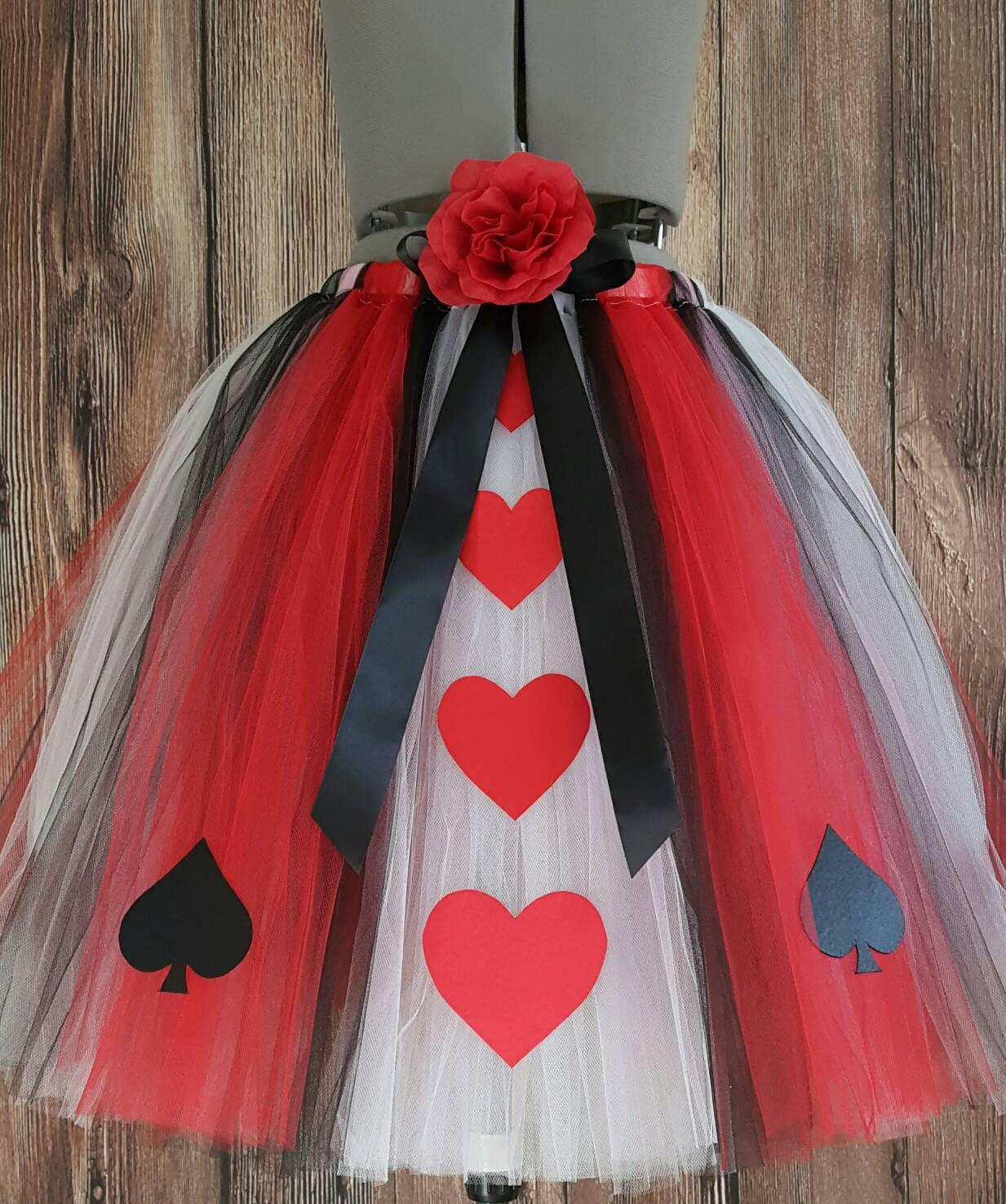 Queen of Hearts Adult Tutu Teen Tutu Less Full Queen of