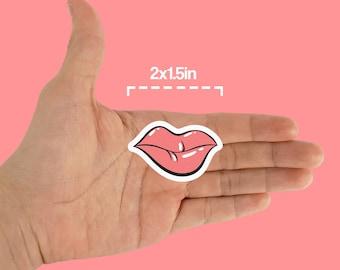 Lips Sticker, Pack of 11 Stickers, Cutesy sticker, Pop Art Sticker, Non Laminate Sticker, Artsy Sticker