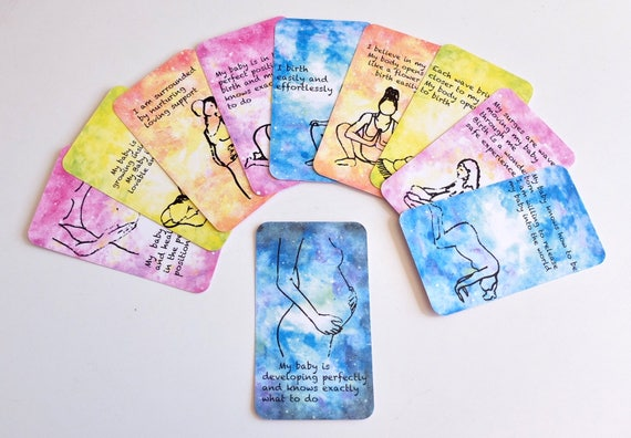 Positive Pregnancy & Optimum Birth Affirmation Cards - Printed