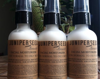 Facial Moisturizer With Special Essential Oils for Problem Skin - 2 Ounce Glass Bottle