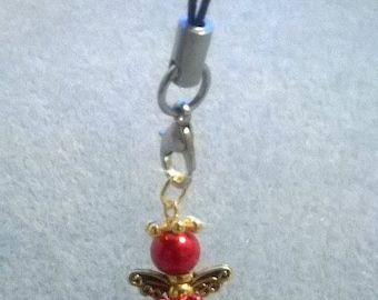 Red and Gold angel Charm