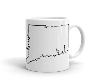 Connecticut Home State - Coffee Mug