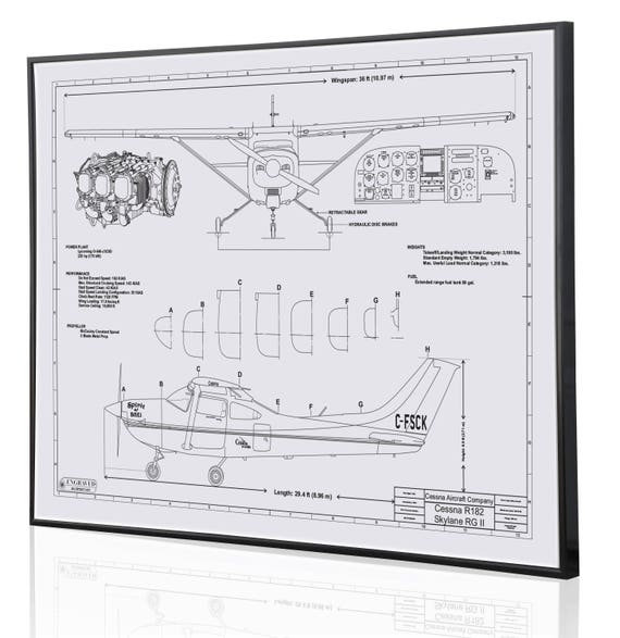 Cessna 182 skylane personalized laser engraved blueprint cessna 182 skylane personalized laser engraved blueprint artwork custom artwork for aviation and cessna enthusiasts perfect pilots gift malvernweather Gallery