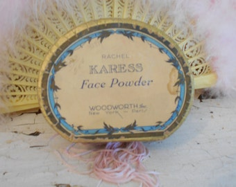 1920's Woolworth's Karess Powder Box/Vanity/Boudoir