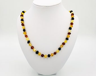 Multi Amber Necklace for Children, Teens & Adults