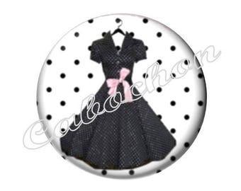 4 cabochons 16mm glass, fashion dress