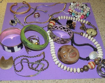 Bracelets, Necklaces, Rings, Pins and more All nice wearable Jewelry