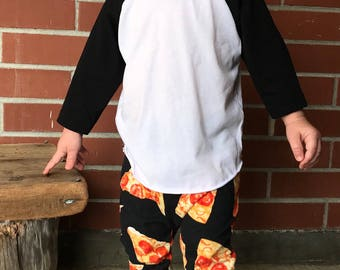 Pizza, Baby Leggings, Baby Pizza, Baby Harem Pants, Toddler Leggings, Toddler Pants, Toddler Harems, Baby Pants, Valentines Day