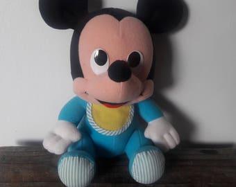 Vintage Playskool Baby Mickey Plush - Late 80s/ Early 90s