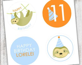 Sloth #Party #Stickers