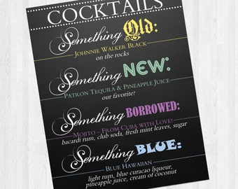 Wedding bar sign open bar shenanigans proceed with cocktail bar sign wedding something old something new something borrowed something blue stopboris Choice Image