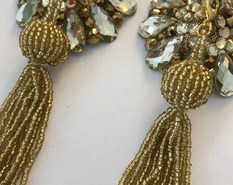 Topaz pasties with gold tassel