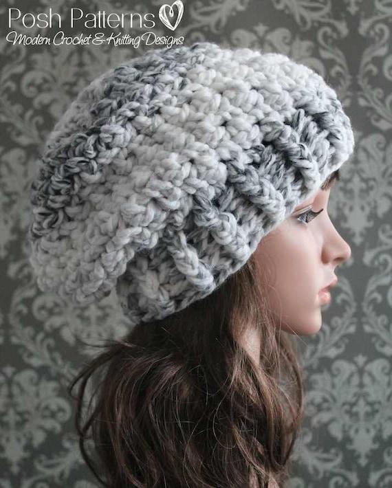 Slouchy Hat Crochet Pattern Crochet Pattern Crochet Hat