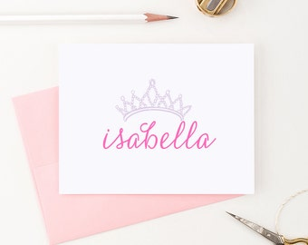 Personalized stationery set // Princess stationery // personalized girls stationery // Personalized stationary // Choose your colors, KS022