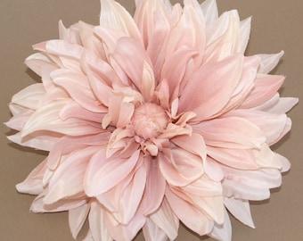 Blush Pink Dinner Plate Dahlia - Artificial Flower Head, Silk Flower
