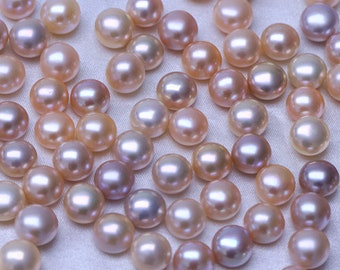 9-10mm natural color pearl,pink button pearl beads,purple bread pearl,loose fresh water pearl .