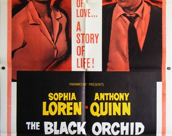 The Black Orchid - 1959 - US One sheet movie poster.