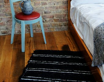 Black and White Rugs, Beni ourain rug, Modern rug, Pattern rugs, Berber Rugs, Area rugs, Tapis, Teppich, Cotton   Eco friendly   Washable.