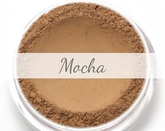 "Mineral Wonder Powder Foundation Sample - ""Mocha"" - medium to dark shade with a neutral undertone - vegan makeup"