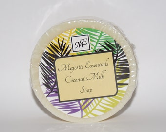 Coconut Milk Round bar soap