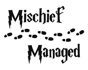 Wizard school SVG, Mischief Managed; Cut Files - SVG, Studio, Studio3 - Silhoutte, Cricut and More - BD092