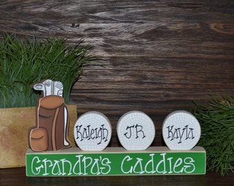 Personalized Golf Gift Grandpa Gift Golf Decor Father's Day Gift Custom Golf Ball Personalized Golf Gift Golf Bag Man Cave Golf Decoration