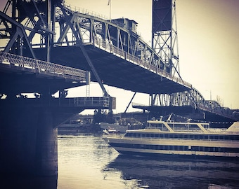 Raising the Steel Bridge- Photograph on Canvas