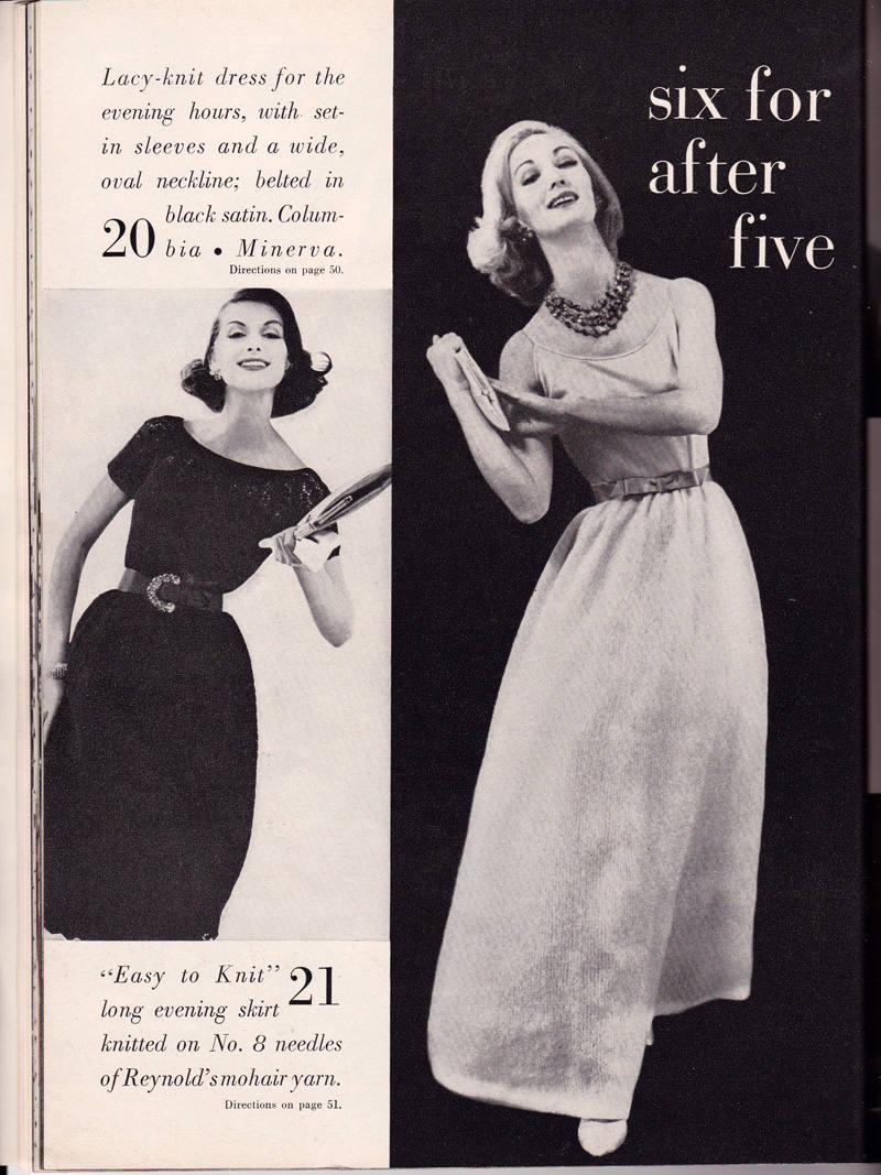 1950s Vogue Knitting Book Magazine, Fall-Winter 1959 Knitting ...