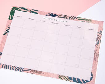 Dry Erase Monthly Planner, Monthly Wall Planner, Monthly Wall Calendar, Dry Erase Wall Calendar, Dry Erase Clendar Decal, Laminated Planner