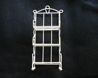 Miniature Bakers Rack White Metal