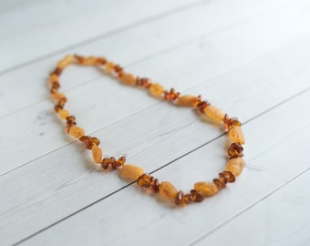 Adult Amber Necklace - 18 Inches - Amber Nursing Necklace - Mommy Necklace - Amber Necklace For Adults - Healing Amber - Baltic Amber Gift