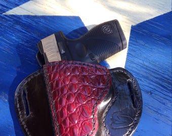 Custom Leather Saddle Holster