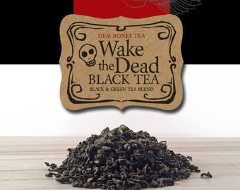 Wake the Dead Tea // Halloween Tea// Day of the Dead Tea // Gothic Tea Party // Valentine Gift // Gothic Valentine