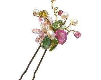 Garden Party Hair Pin, Floral Hair Pin, Spring Hair Pin, Bridal Party, Hair Accessory, Garden Wedding, Hair Pin, Spring Wedding Hair Pin